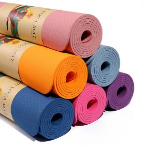 Wholesale Best Deal Eco-Friendly Fitness TPE Yoga Mats 183×61cm with Custom Logo 6mm China Factory Wholesale